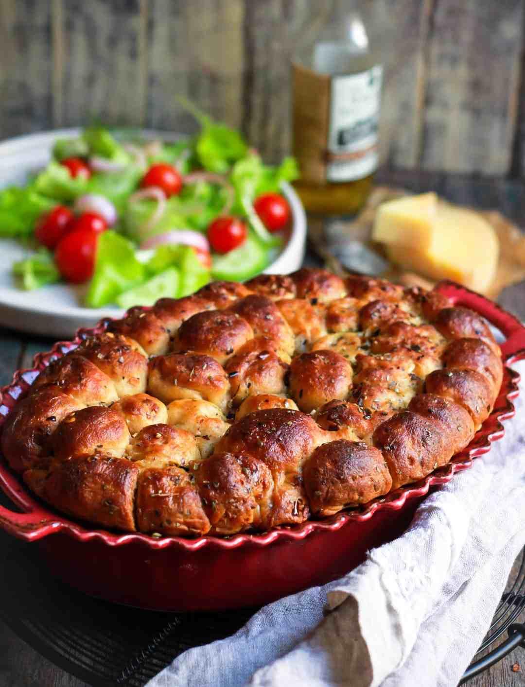 Cheesy Bubble Bread easy wholegrain baking