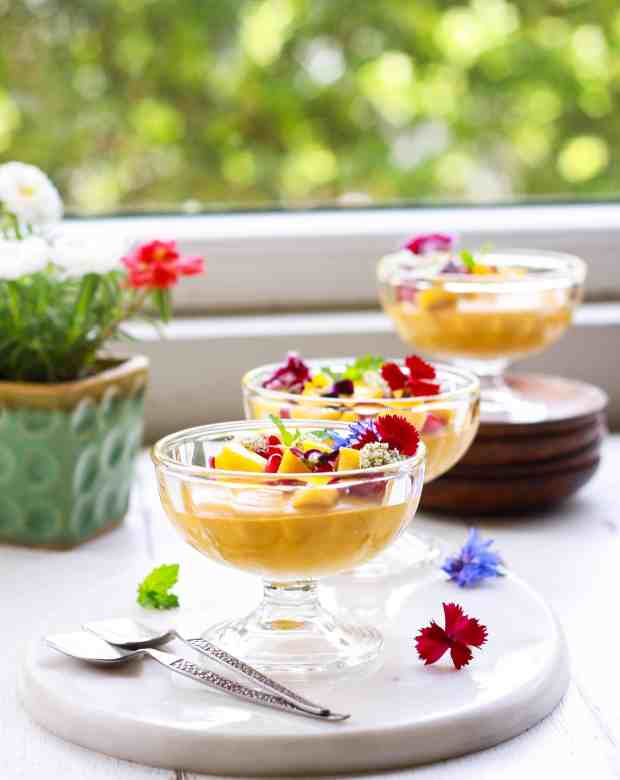 Mango Coconut PannaCotta vegan glutenfree dessert