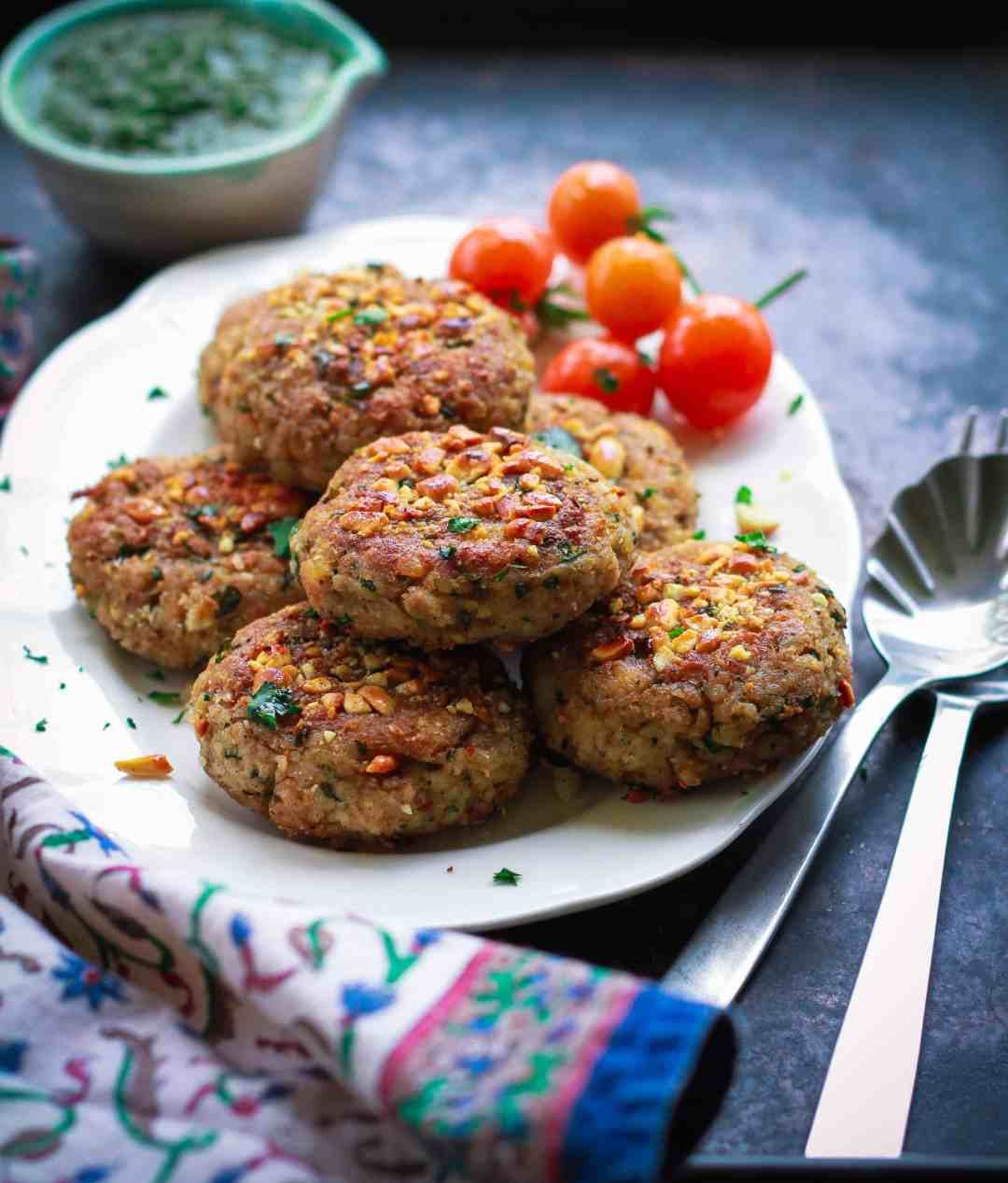 Raw Banana & Millet Cutlets vrat ka khana Indian fasting food vegan glutenfree healthy recipe