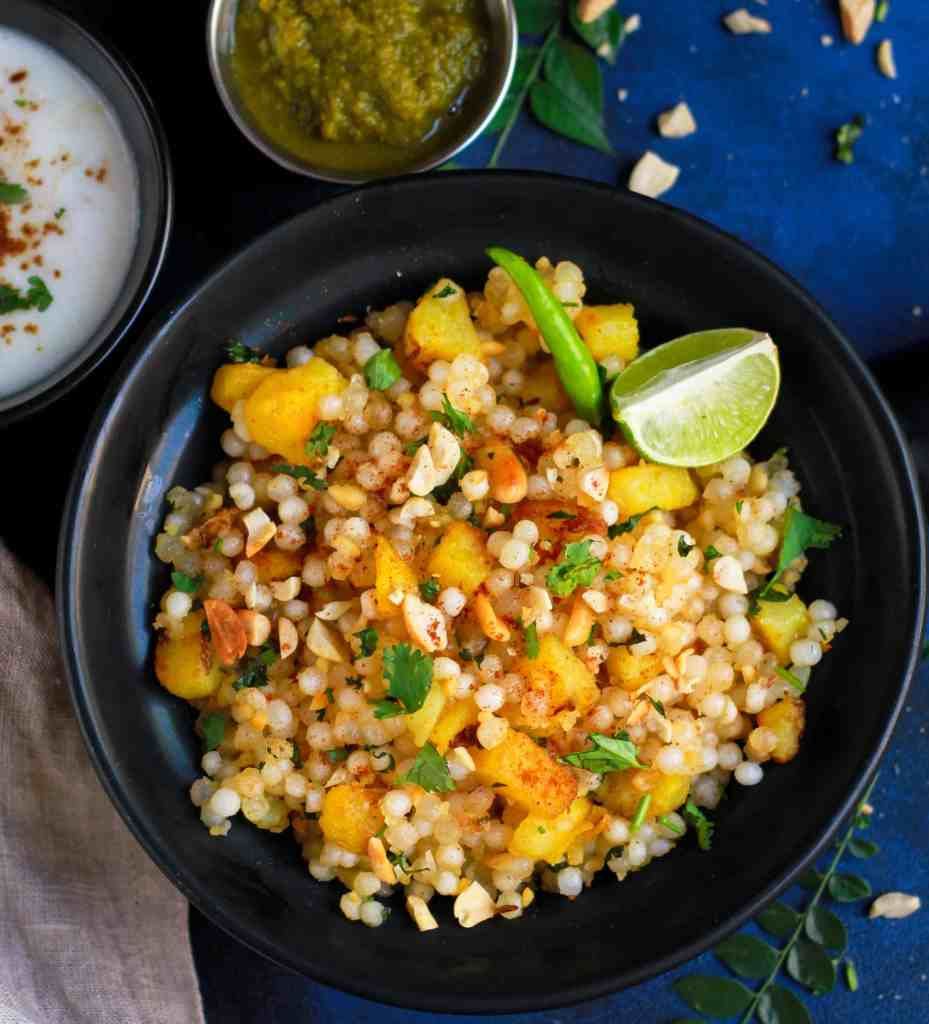 Sabudana Khichdi / Sago Pearl Pilaf Vrat ka Khana Indian Food Vegan Glutenfree Cumin