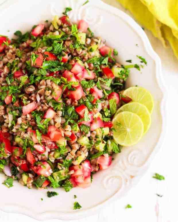 Buckwheat Tabbouleh Salad vegan glutenfree recipe