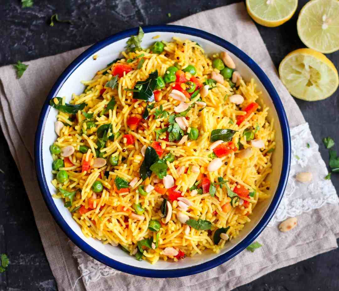 Seviyan Upma ( Savory Vermicelli) Loaded with with vegetables this a quick and healthy breakfast