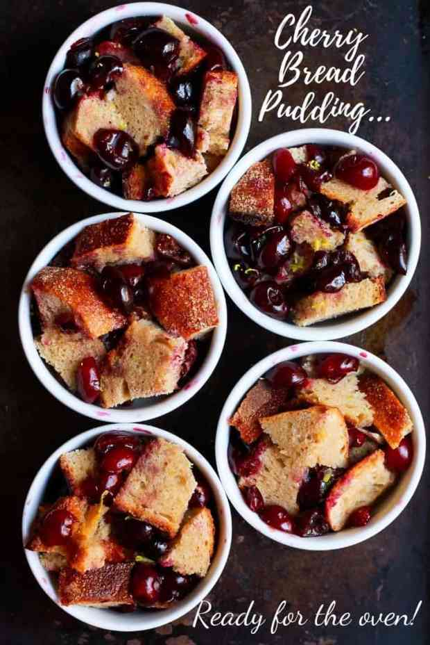 Cherry Bread Pudding easy dairy free baking