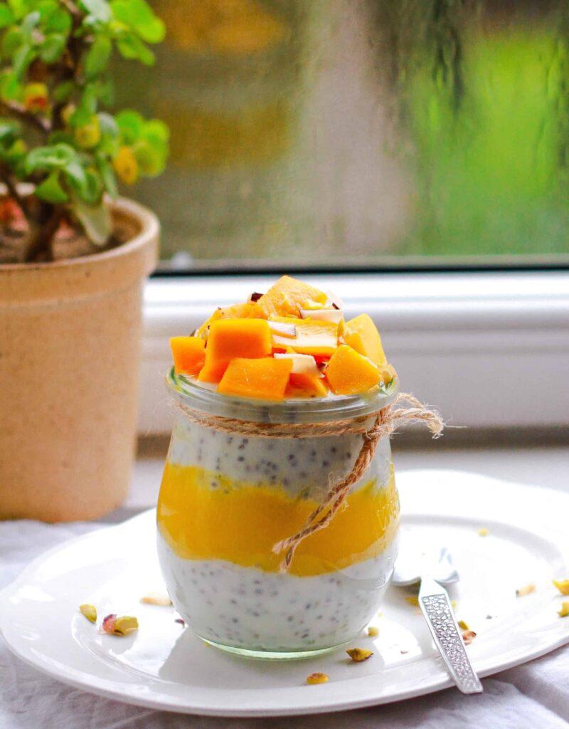 Coconut Mango Chia Pudding healthy breakfast
