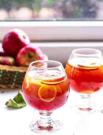 Whiskey Apple Iced Tea Fall Cocktail