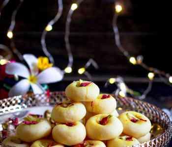coconut cardamom peda Diwali Dessert Mithai Easy Recipe