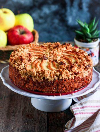 Apple Crumble Cake easy vegan baking