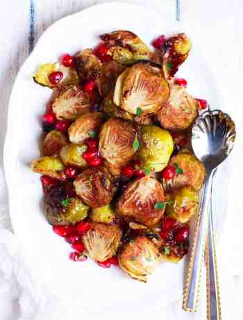 Roasted Brussel Sprouts easy vegan recipe