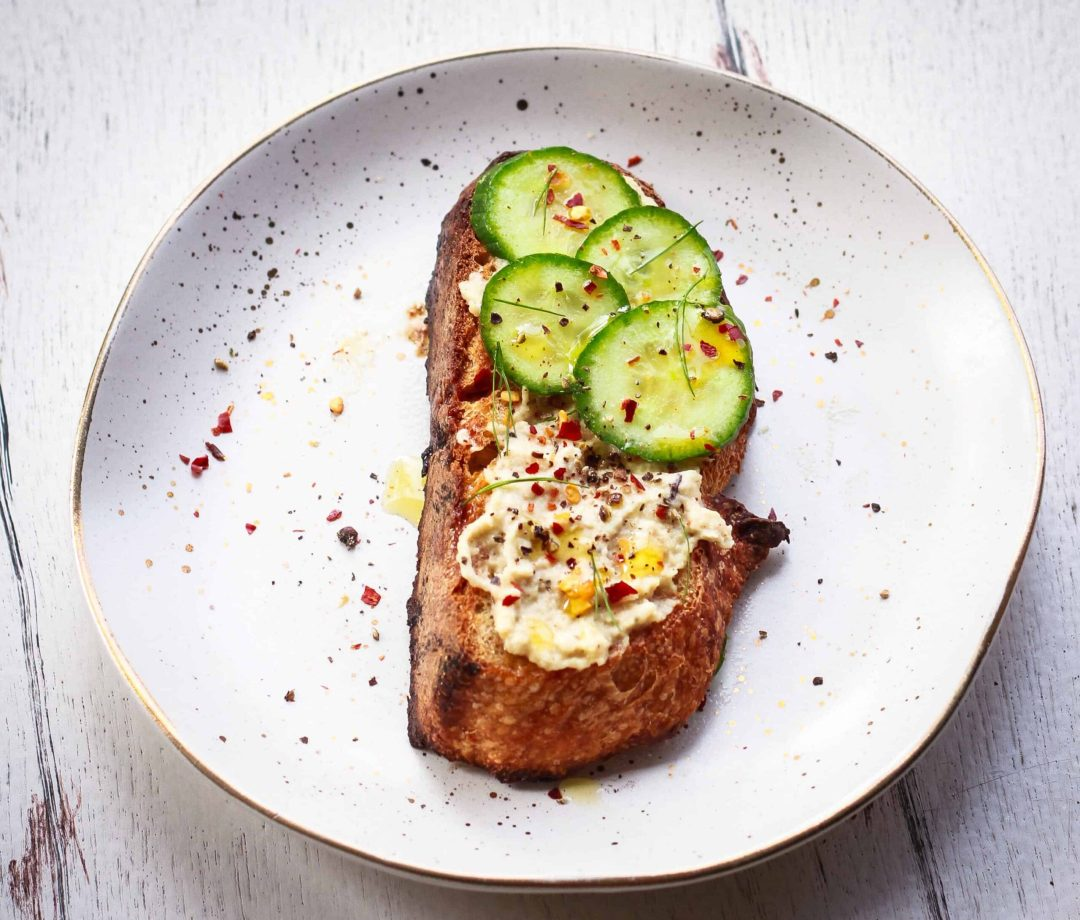 Sourdough Toast with Cashew Ricotta Cheese