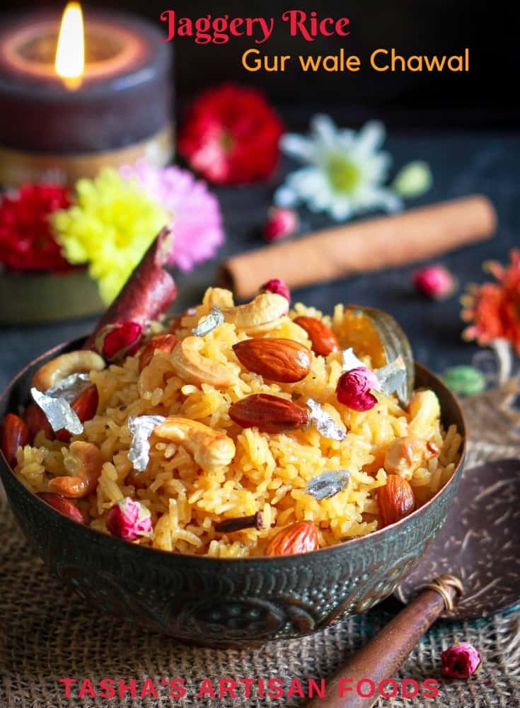 Jaggery Rice Gur Wale Chawal Indian Festive Dessert