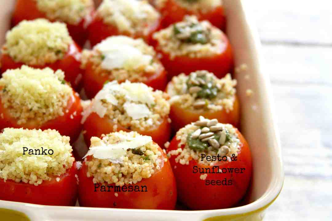 Spicy Millet Stuffed Tomatoes