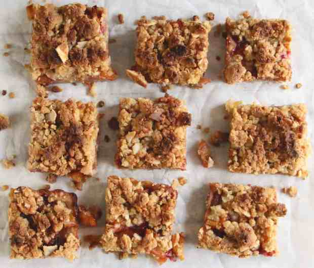 Peach & Plum Crumb Bars