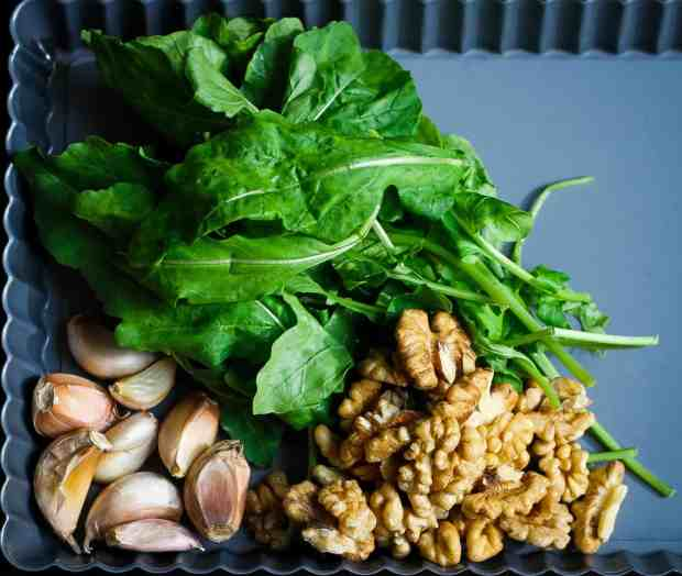 Walnut Rocket Pesto vegan, dairyfree, arugula,walnuts, vegetarian, healthy, glutenfree