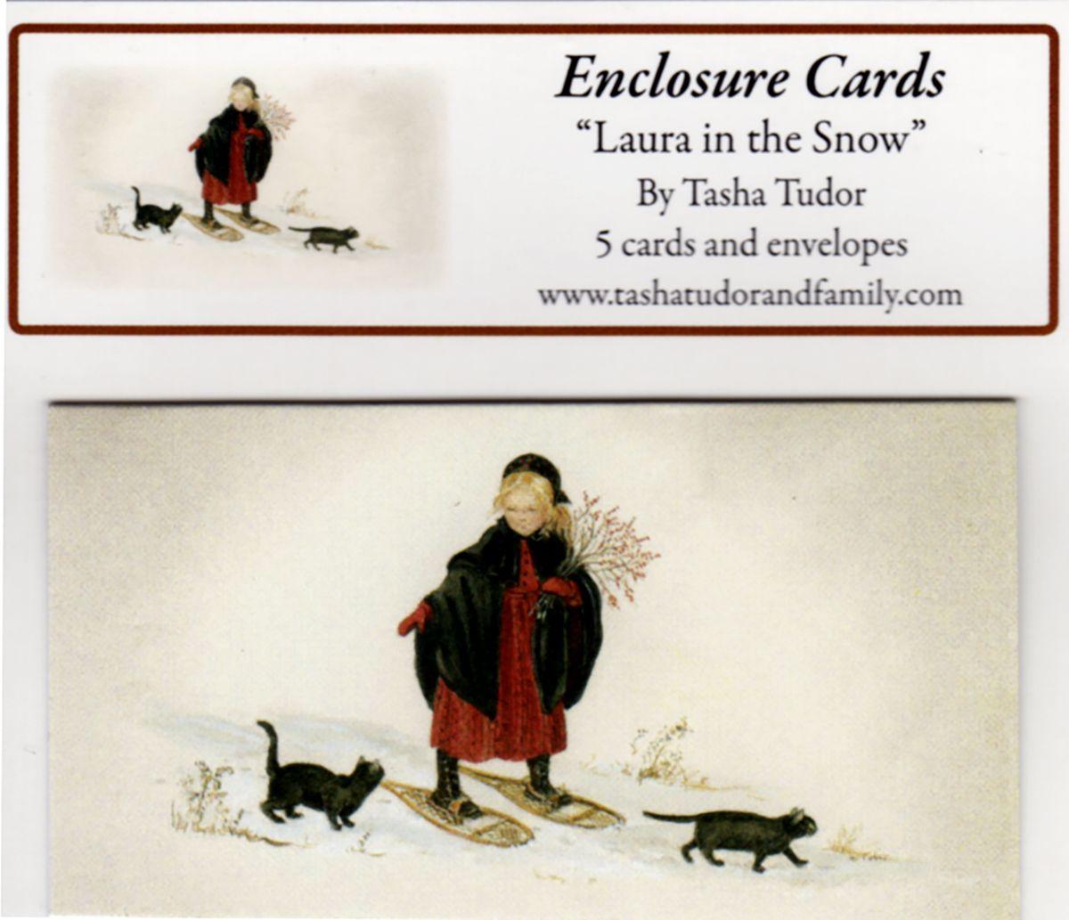 Laura In Snow Enclosure Cards Tasha Tudor And Family