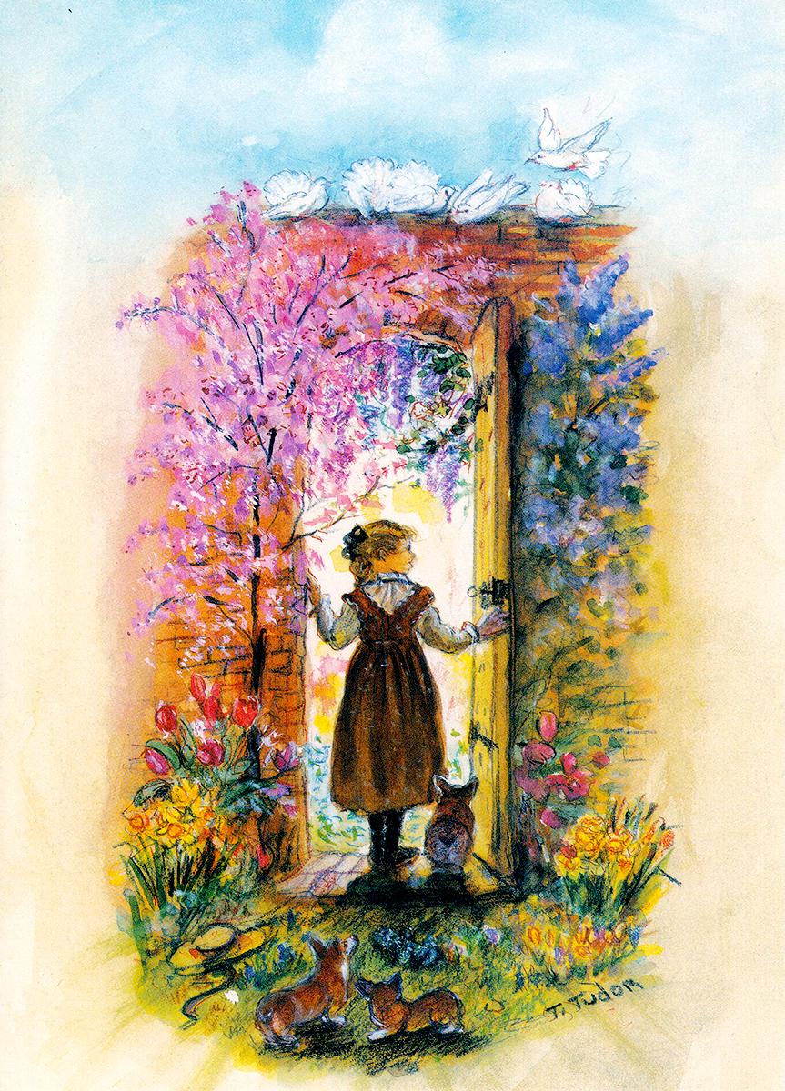 Spring Secret Garden Cards Tasha Tudor And Family