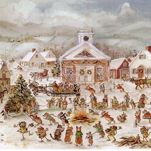 Christmas In Corgiville Print Tasha Tudor And Family