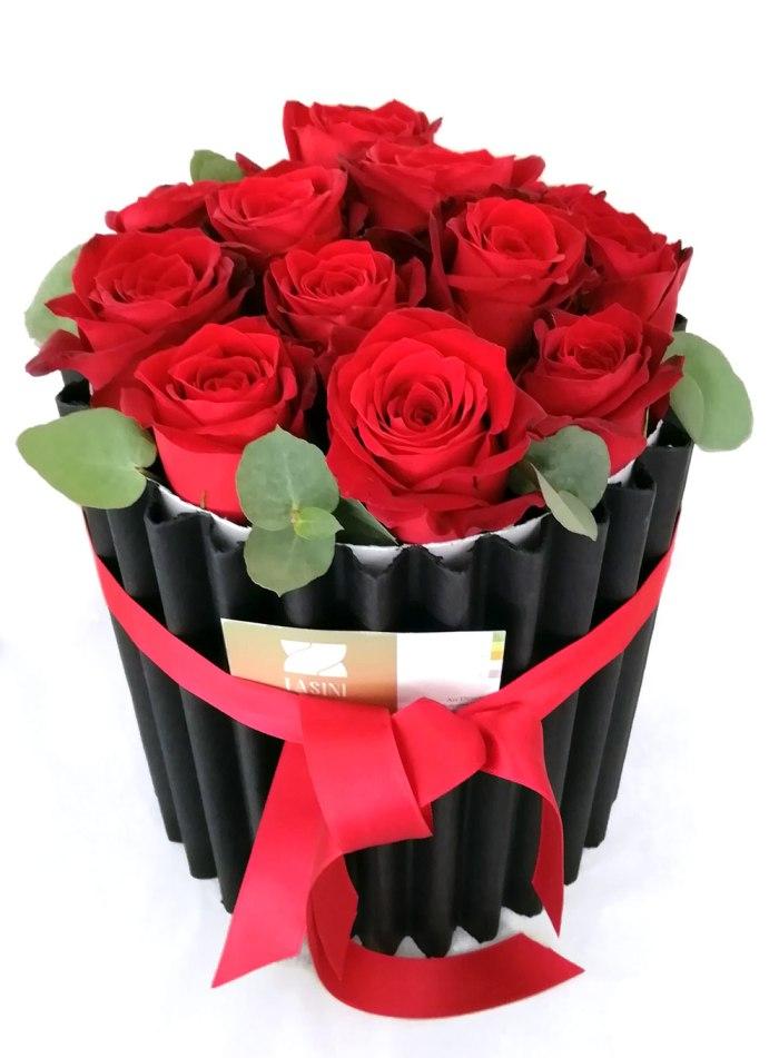 Tasini Fiorista - shop - Flower box Rose Rosse