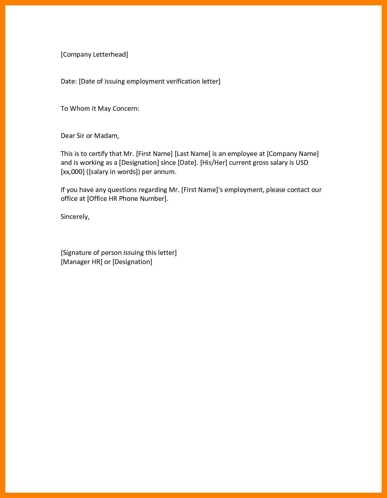 rent verification letter template