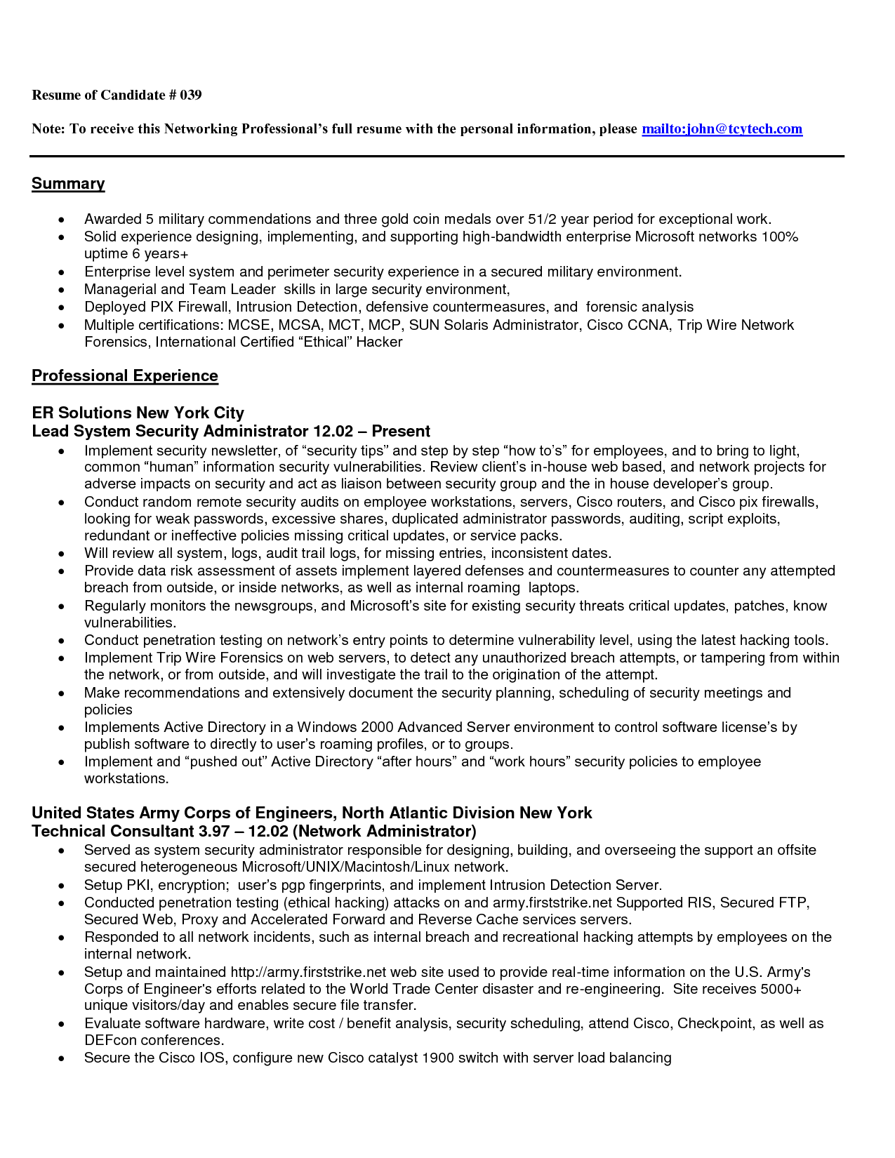 entry level resume software engineer examples