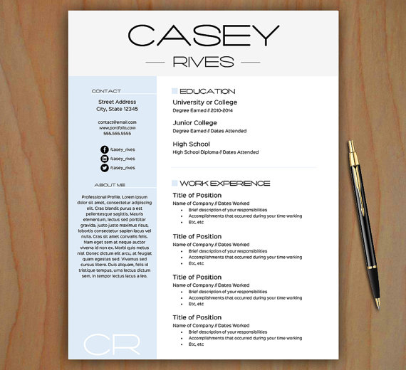 free stylish resume templates free download