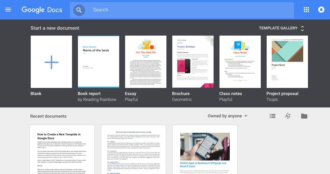 Google Docs Template Gallery  task list templates