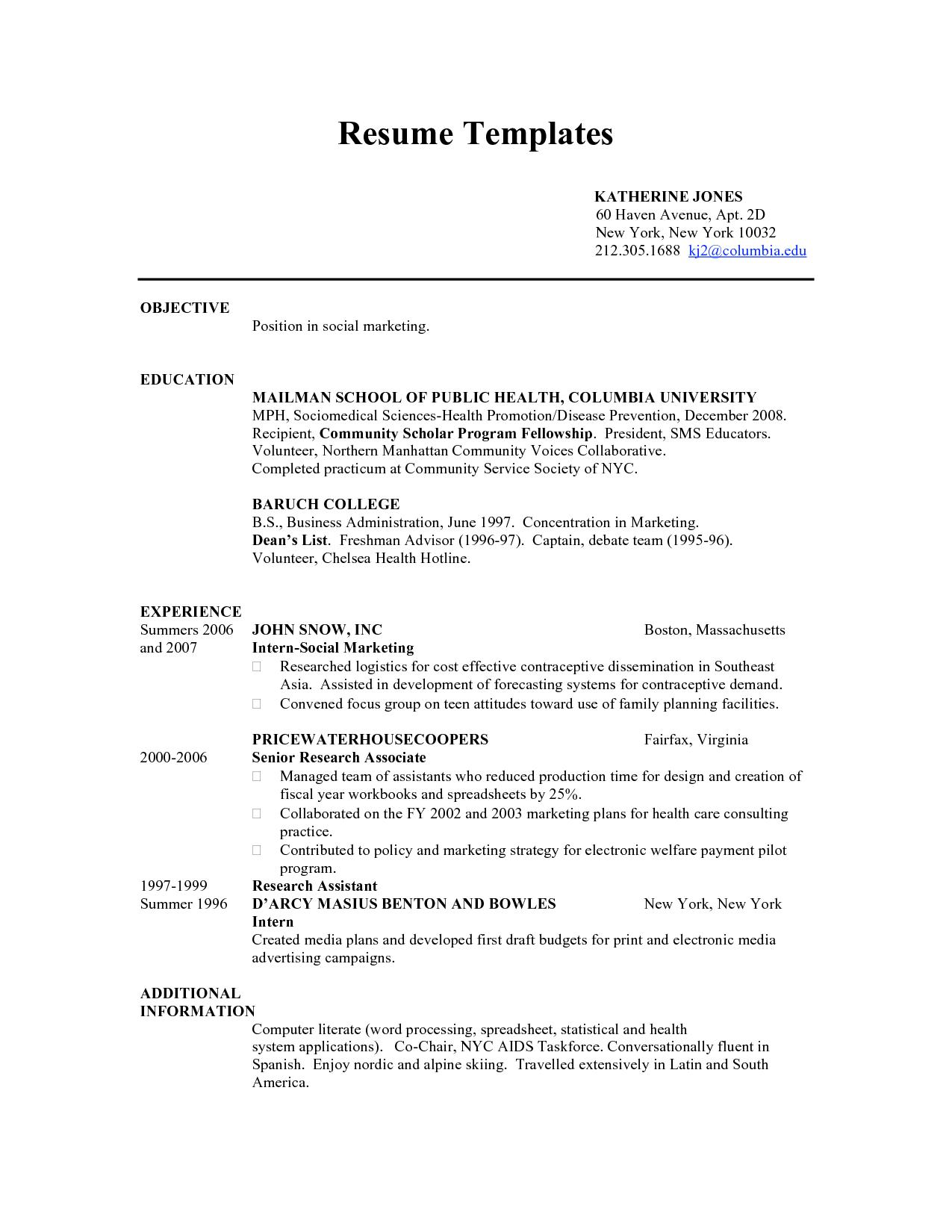Teenage Resume Builder