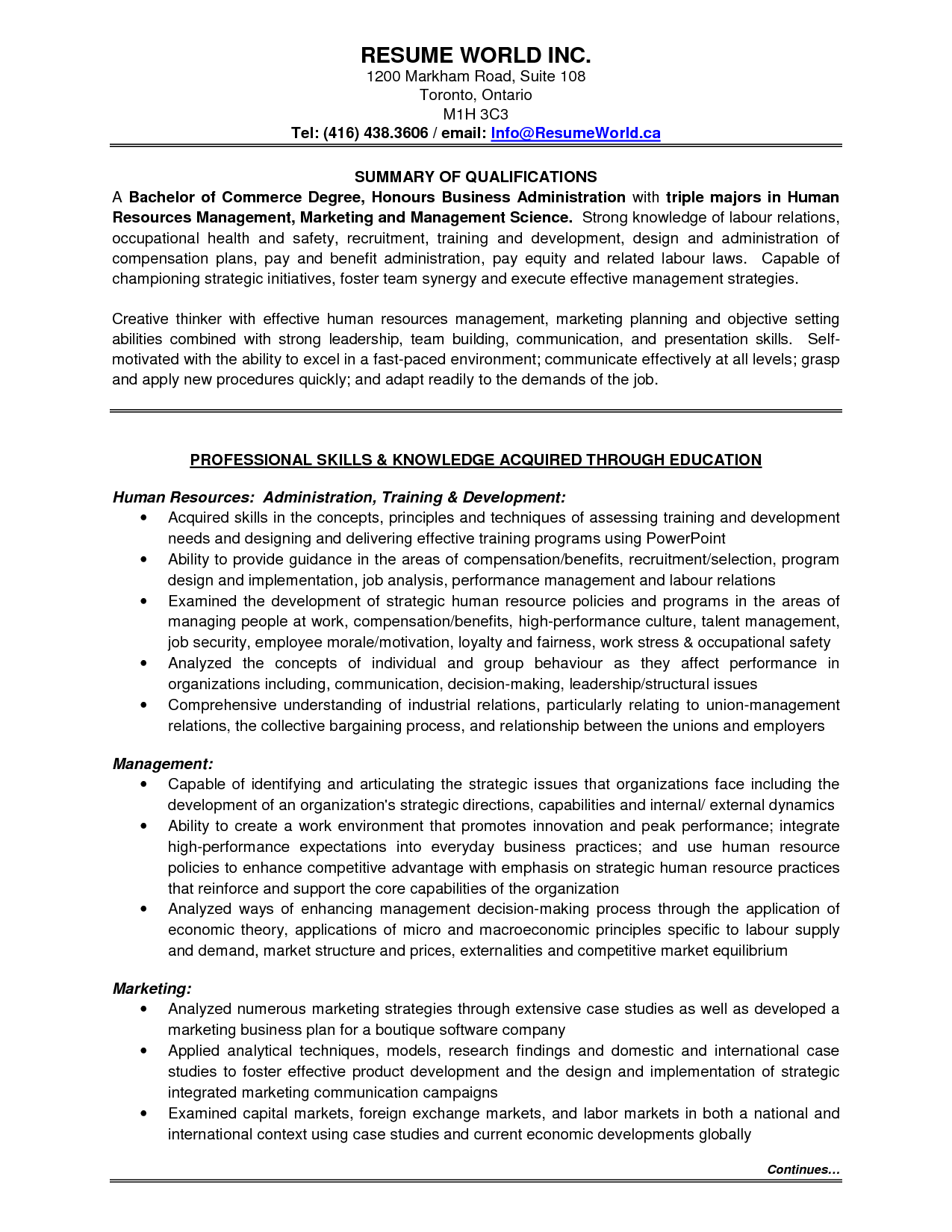 resume objective examples for entry level sales