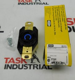 case of 10 hubbell hbl2620 2p 3 wire 30a 250 vac vdc receptacle twist lock [ 2000 x 1500 Pixel ]