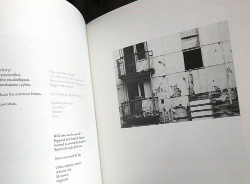 Jussarön kaupunkisodankäyntiharjoituksissa vaurioitunut kerrostalo