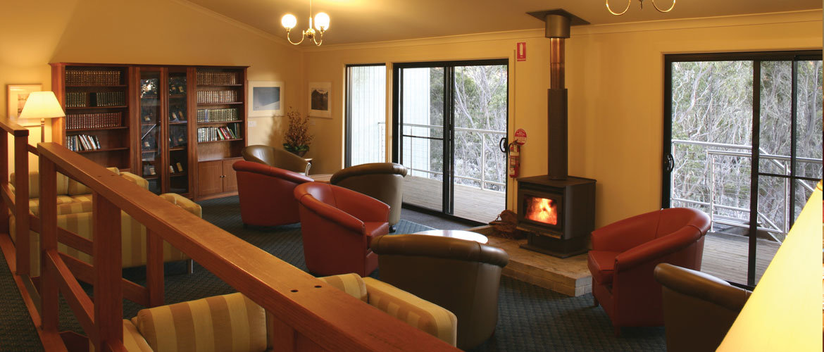 Cradle Mountain Hotel Library