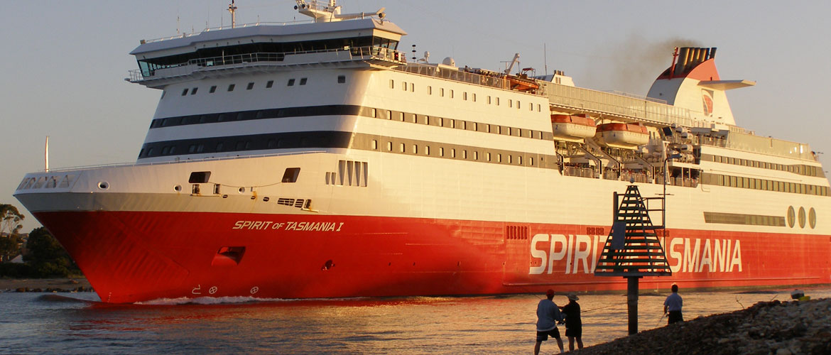 Spirit of Tasmania Ferry Departing Devonport
