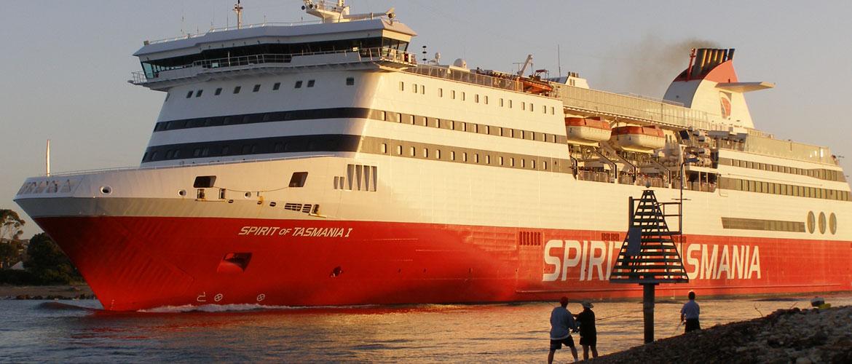 Spirit of Tasmania Ferry Departing Devonport
