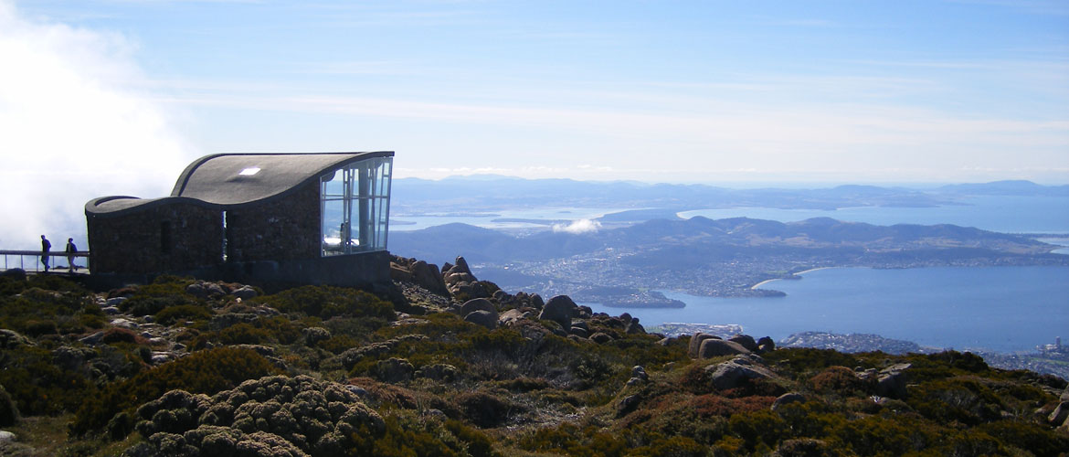 Lookout atop Mount Wellington