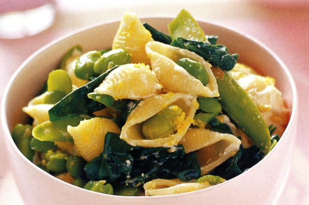 Spring green pasta