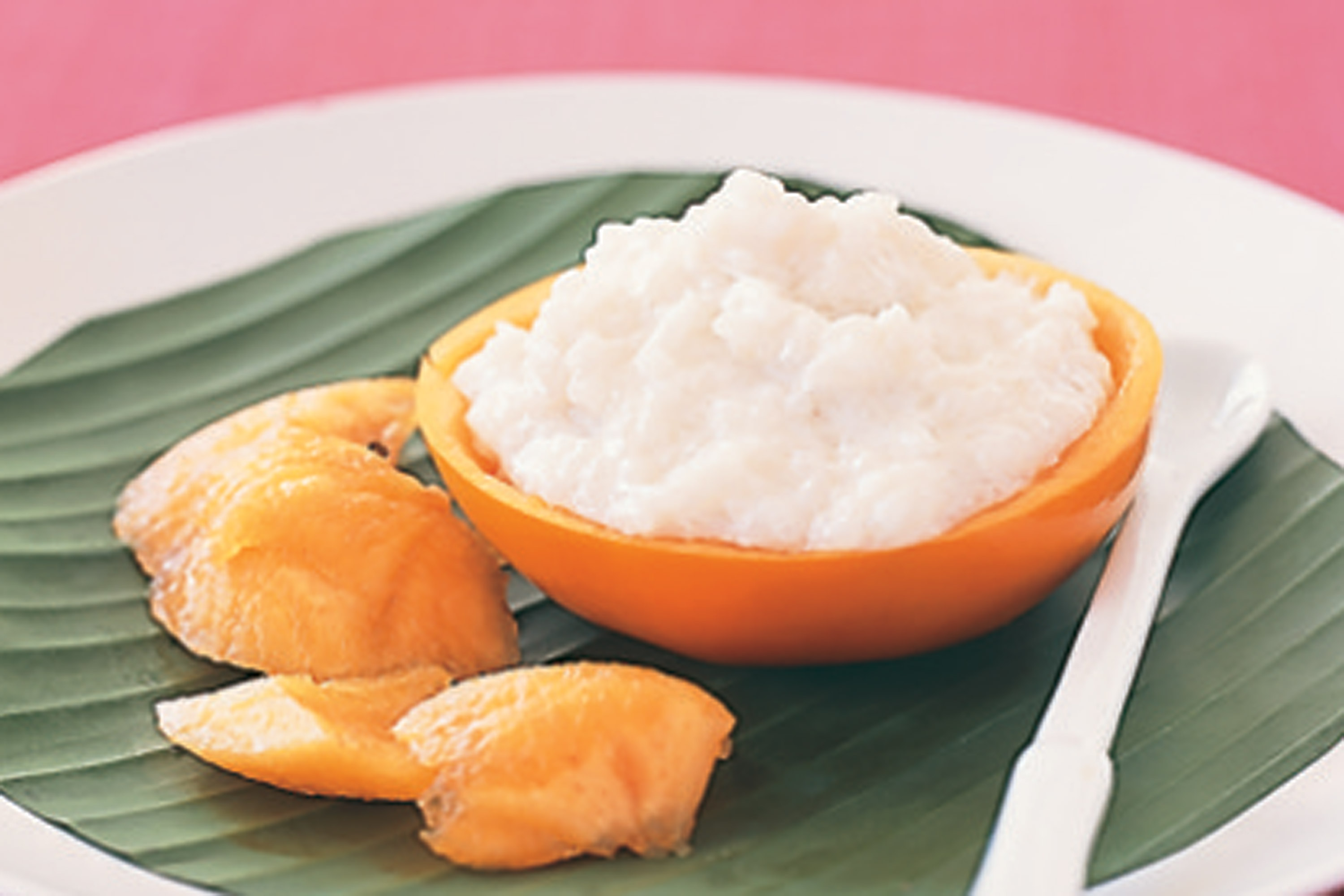 Coconut rice pudding with lime fuyu