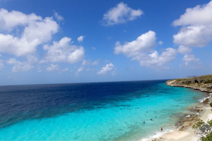 Most of the coastline of Bonaire is rocky with a reef running along the entire shoreline
