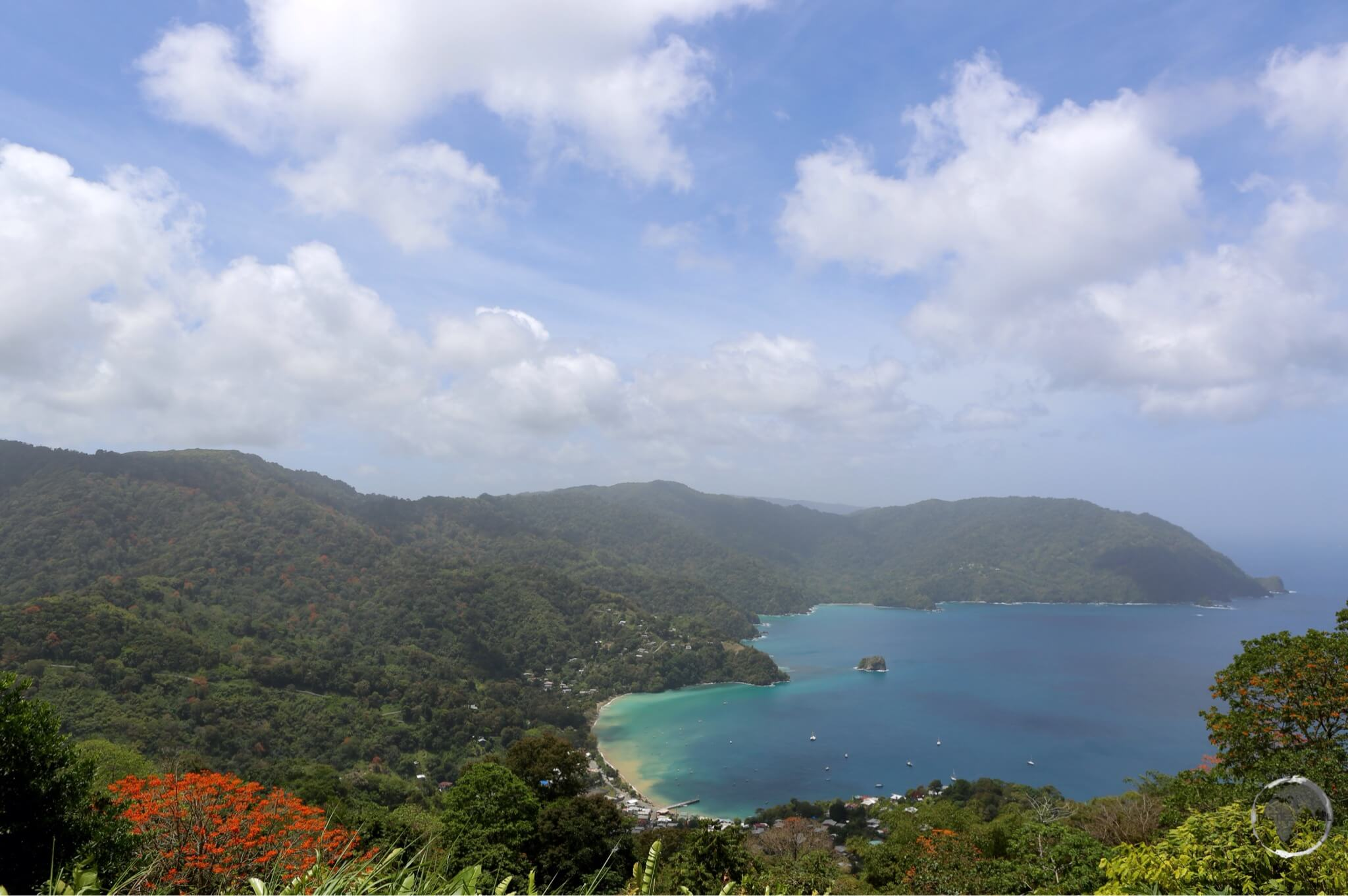 A panoramic view of the North coast of Tobago.