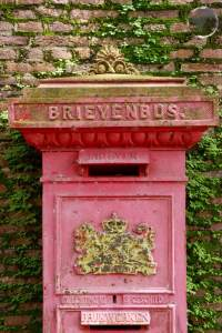 Old Dutch letterbox in Paramaribo