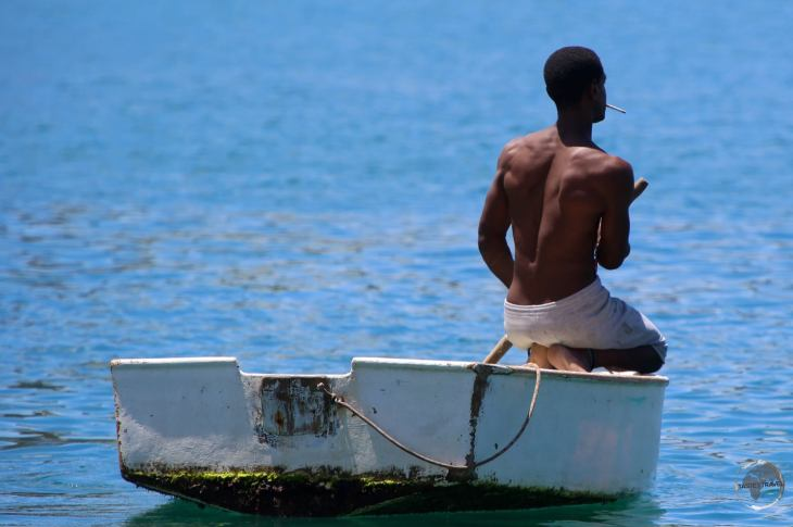 Fisherman in St. Georges harbour