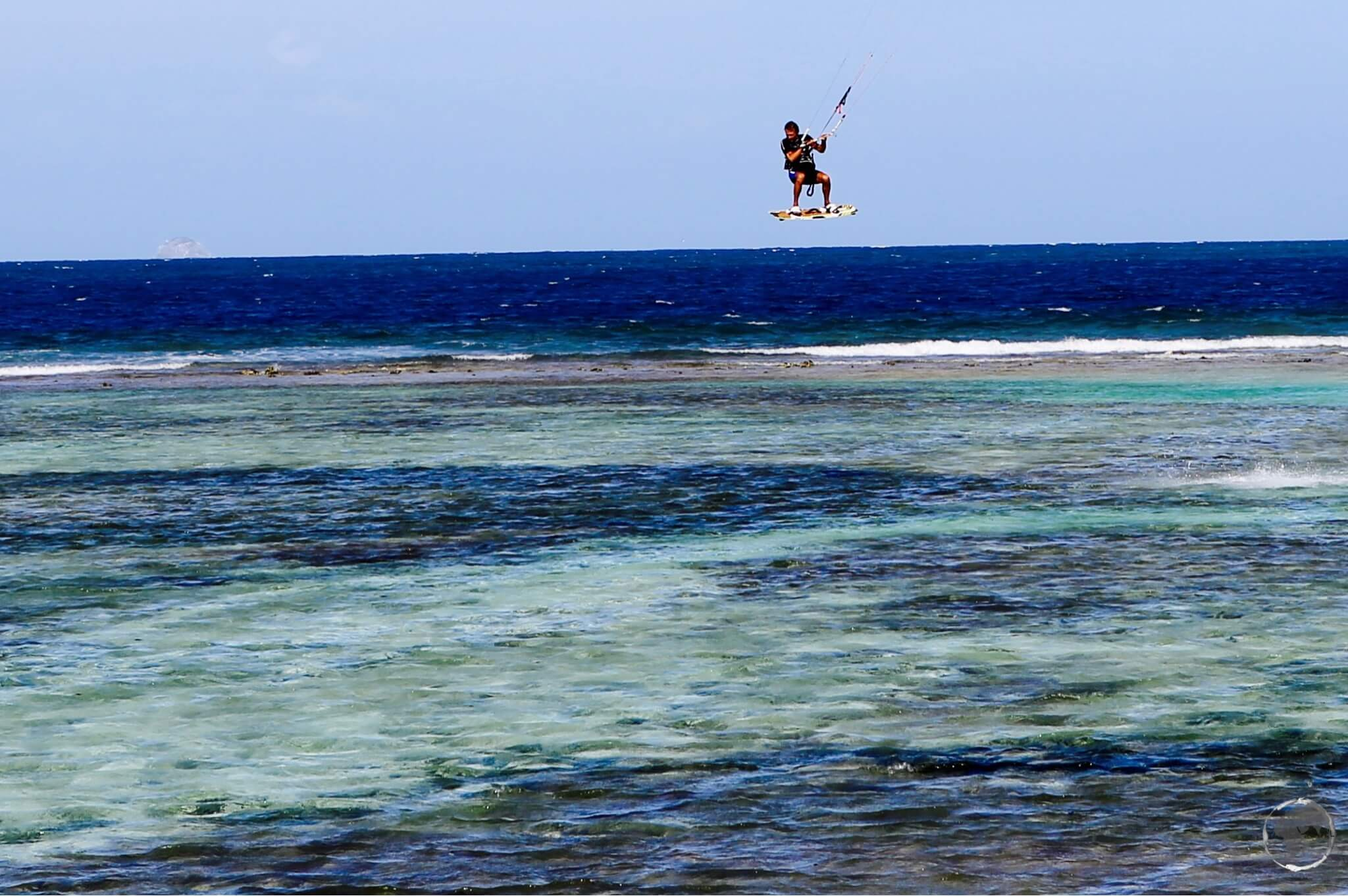Kite surfer on Union island.