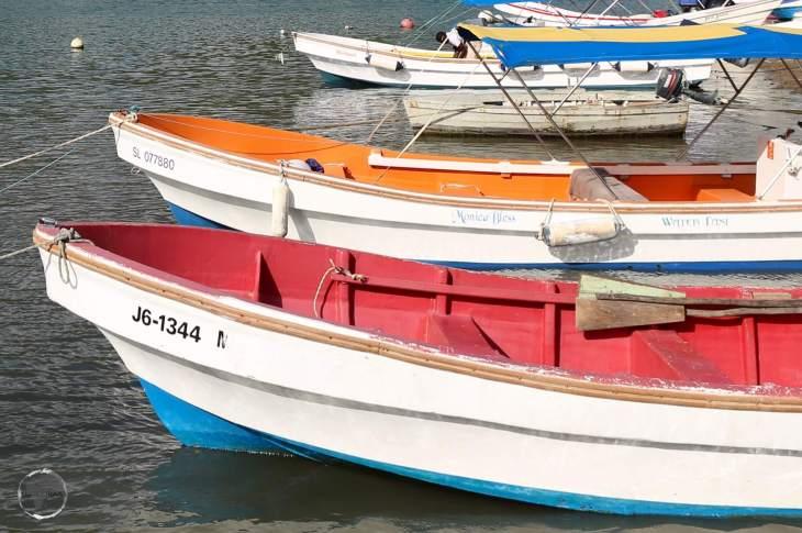 Boats at Marigot Bay.