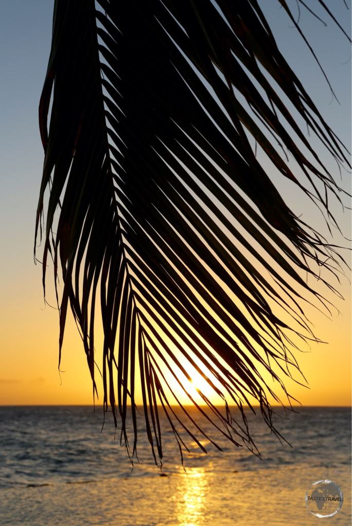 Sunset at Jan Thiel beach.