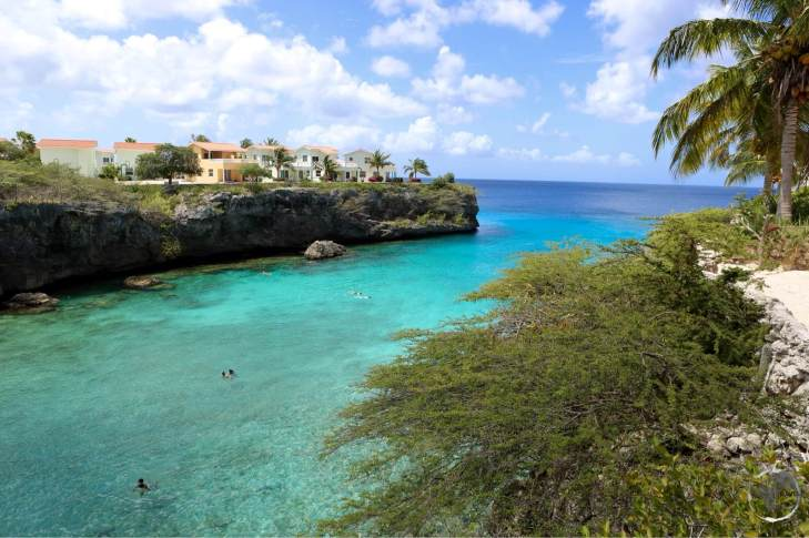 The protected coves of Curacao provide excellent snorkeling and diving.