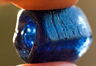 The famous 'Statia Blue Bead'.