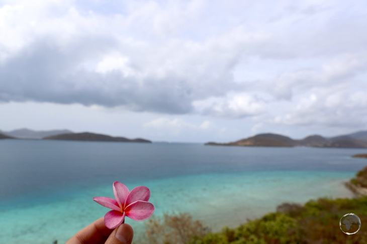 A view across to the British Virgin Islands from St. John.