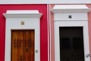 Doorways in historic old San Juan