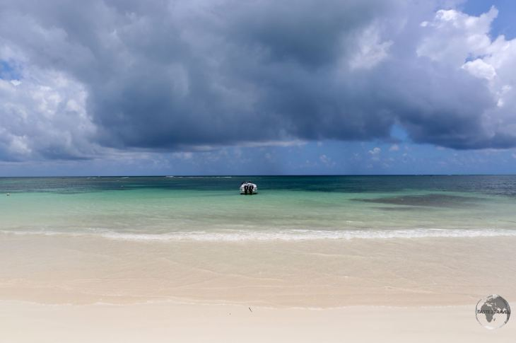 Stormy skies over the beach at Las Terrenas, which lies on the north-east coast of the Dominican Republic.