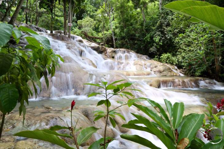 A highlight of Jamaica - Dunn's river waterfalls.