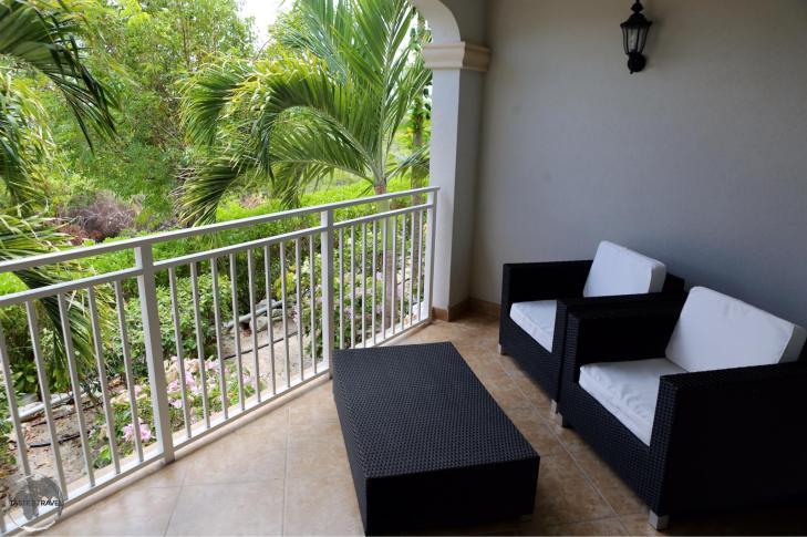 The balcony of my beautiful condo on Provo island.