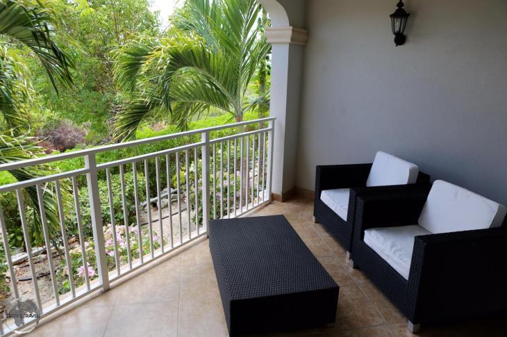 The balcony of my comfortable Condo on Provo island.